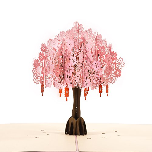 POPWING Scented Birthday Card Huge Size 3D pop up Card Cherry Blossom -, Thank You, Greeting Card, Mother Day Card