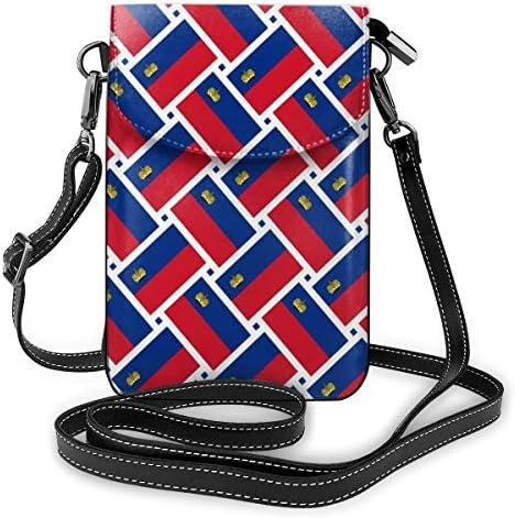 ミニバッグ スマホポーチ 斜めがけ ミニポシェット リヒテンシュタインの旗 ミニショルダーバック 携帯 ケース ミニポーチ おしゃれ 人気 かわいい 小さめ 多機能 軽量 プレゼント レディース