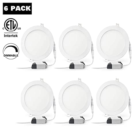 6 Inch Ultra Thin Recessed Lighting Xingruyu 6 Pack Led Pot Light Downlight Dimmable 15w 105w 6000k Daylight 1500 Lumens Easy Install For Office