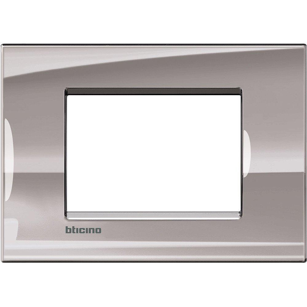Bticino Livinglight Lna4803Ns/ /Ll-Placa 3/M Nichel