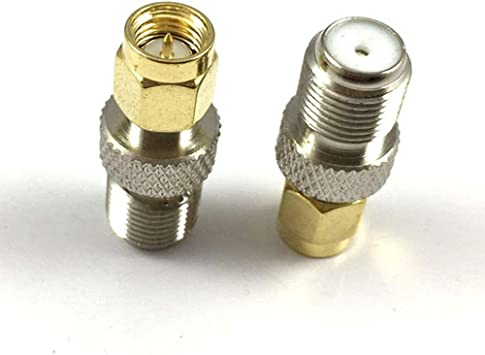 Sma Adaptador RF Sma macho a F hembra coaxial conector Dab antena convertidor para radio FM/AM/DAB+ (paquete de 2)