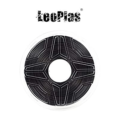 LeoPlas New Store USA Warehouse 1.75mm Black Nylon PA Filament 2 Colors 1Kg 2.2 Pounds FDM 3D Printer Pen Supplies Plastic Printing Material Polyamide