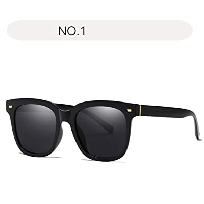 Chengzuoqing Gafas de Sol polarizadas Mujer Gafas de Sol extragrandes Retro para Mujeres con Lentes polarizadas espejadas y con protección UV 400 (Color : NO.1, tamaño : Free Size): Hogar