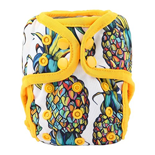 Sigzagor Newborn Baby Diaper Nappy Cover 8lbs-10lbs (Pineapple)