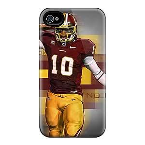 AlissaDubois Iphone 4/4s Bumper Cell-phone Hard Cover Support Personal Customs Trendy Washington Redskins Skin [Urg5431LSaf]