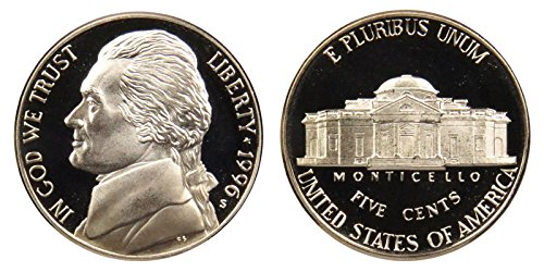 1996 S Proof Jefferson Nickel PF1