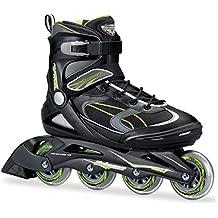 Bladerunner by Rollerblade Advantage Pro XT Men's Adult Fitness Inline Skate, Black and Green, Inline Skates