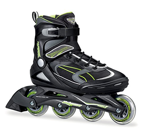 (Bladerunner by Rollerblade Advantage Pro XT Men's Adult Fitness Inline Skate, Black and Green, Inline Skates)