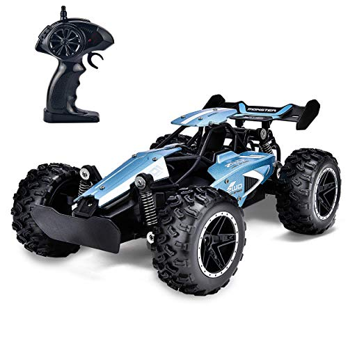 Rainbrace RC Racing Car Remote Control Car High Speed RC Car Fast RC Truck Rechargeable Radio Controlled Car RC Race Car Toys for Boys Girls Kids Age 5 16 Year Old Gift Present Blue (The Best Radio Controlled Cars)