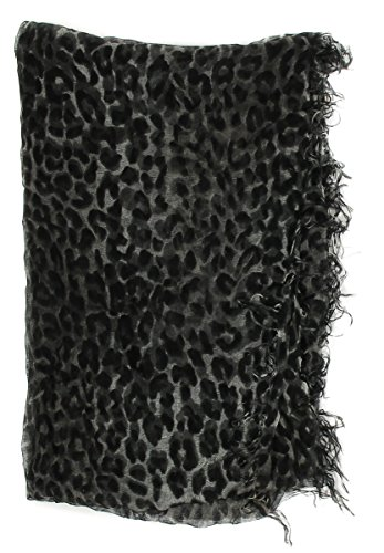 Collection XIIX Women's Leopard On The Prowl Scarf, Black, One -