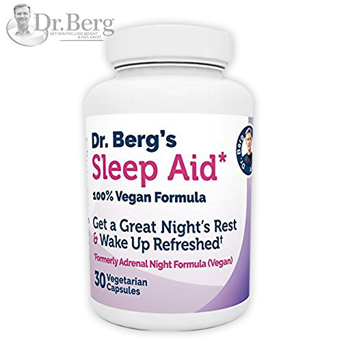 Dr. Berg Product – Sleep Aid Vegan Formula – All Natural Support for Normal Sleep Cycles to Fight Fatigue & Stress – Non Habit Forming