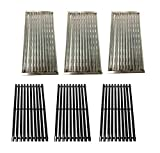 Replace parts 3 Pack Stainless Steel Cooking Grid and Porcelain Steel Cooking Grid for Select Charbroil Brand Gas Grill-griddles