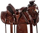 """AceRugs 14″ 15"""" 16"""" Premium Heavy Duty Wade Tree Roping Ranch Work Cowboy Western Leather Horse Saddle TACK Package"""