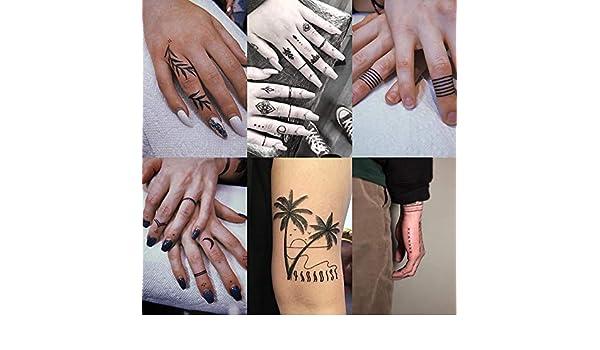 Tatuaje de la mano de la marea del brazo de la flor pegatinas ...