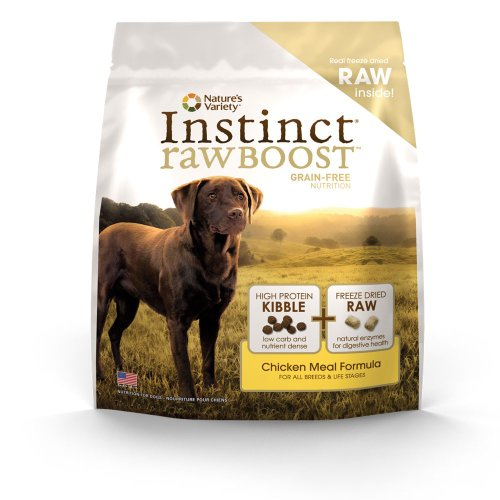 Instinct Raw Boost Grain-Free Chicken Meal Formula Dry Dog Food by Nature's Variety, 23.5-Pound Bag, My Pet Supplies