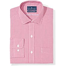 Buttoned Down Men's Classic Fit Pattern Non-Iron Dress Shirt (3 Collars Available)