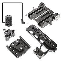 JTZ DP30 15mm Stand Base Plate Clamp and JTZlink Hub Adapter JLA-1 for Blackmagic URSA MINI 4K 4.6K EF PL Cinema Camera by JTZ