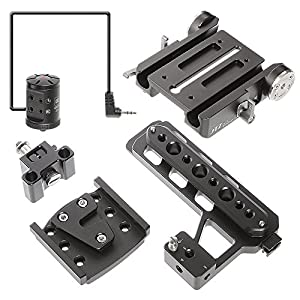 JTZ DP30 15mm Stand Base Plate Clamp and JTZlink Hub Adapter JLA-1 for Blackmagic URSA MINI 4K 4.6K EF PL Cinema Camera by JTZ