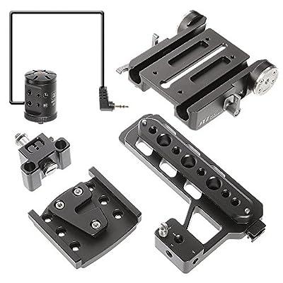 JTZ DP30 15mm Stand Base Plate Clamp and JTZlink Hub Adapter JLA-1 for Blackmagic URSA MINI 4K 4.6K EF PL Cinema Camera from JTZ