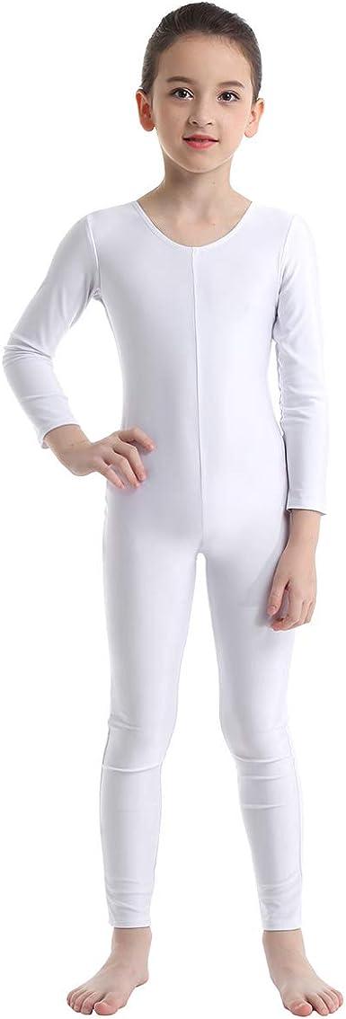 iixpin Fille Justaucorps de Gymnastique Acad/émique Combinaison de Danse Ballet Jumpsuit Bodysuit Catsuit Tenue de Sport Enfant 5-12 Ans
