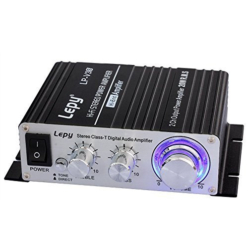 Lepy LP-V3S Motorcycle Hi-fi Stereo Digital Audio Amplifier with Power Supply by Lepy