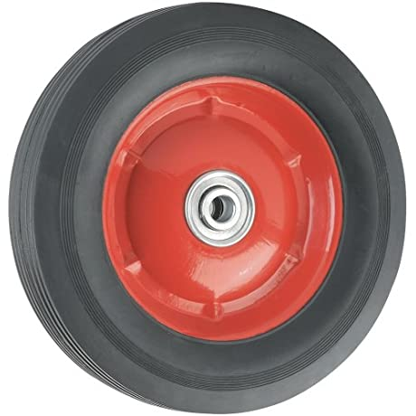 Replacement Wheel With Offset Steel Hub 8 Inch X 1 3 4 Inch Ribbed 60 Lb Load Capacity For Use On Wheelbarrows Wagons Carts Many Other Products
