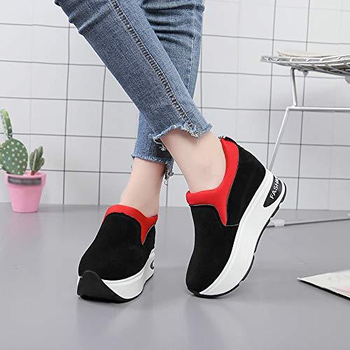 Zapatos Gruesa Correr Ocasionales Outdoor De Rojo Gimnasia Zapatillas De CóModo Zapatos De OHQ Suela Mujer Zapatos Deportivos Zapatillas Shake Pq1HXnwa