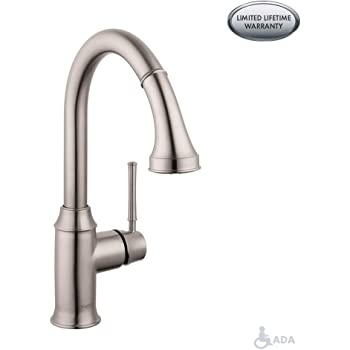 Hansgrohe 04215 Talis C High Arc Pull Down Kitchen Faucet