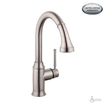 Hg Talis C Higharc Single Hole Kitchen Faucet Wpull Down 2 Spray