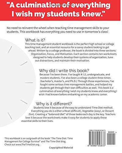 Time management workbook for students dr emily schwartz time management workbook for students dr emily schwartz 9780985053673 amazon books altavistaventures Gallery