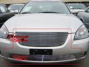 Amazon.com: 02-04 Nissan Altima Billet Grille Grill Combo Upper+ ...