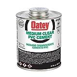 Oatey 31020 PVC Medium Cement, Clear, 32-Ounce