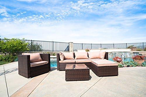 Amazon.com: Belleze - Juego de 6 sofás seccionales modernos ...