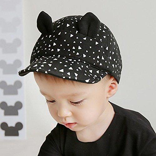 Zetti Baseball Hat for Boy Girl Kid Toddler Infant Cap Sun Cartoon - Black