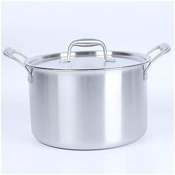 SKYyao Sarten acero inoxidable,Acero inoxidable sopa doble oído cocina sopa recipiente olla de inducción cocina General: Amazon.es: Hogar