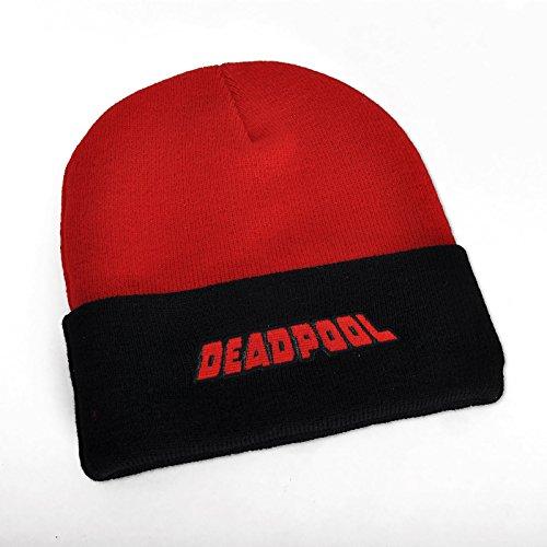 única Talla Negro de para punto Gorro Deadpool negro hombre 64wfpqn8x