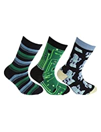 FLOSO Childrens/Kids Retro Gripper Socks (3 Pairs)