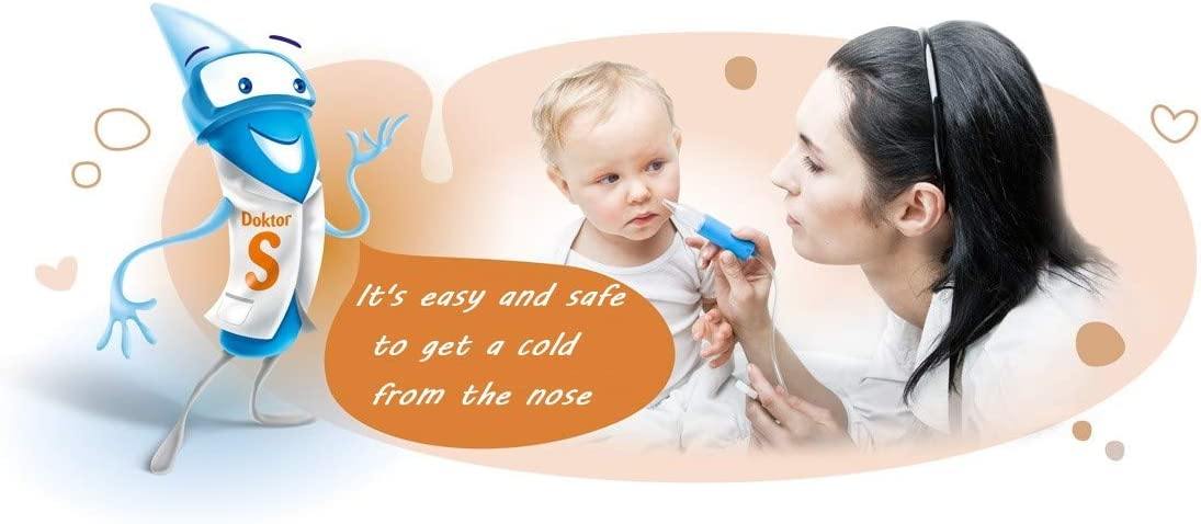 Gentle and Fast Nose Suction for Newborns Children Sopelek 2 Nasal Aspirator Safe snotsucker -The Most Effective Nose Cleaner for Sinus Congestion Cold and flu