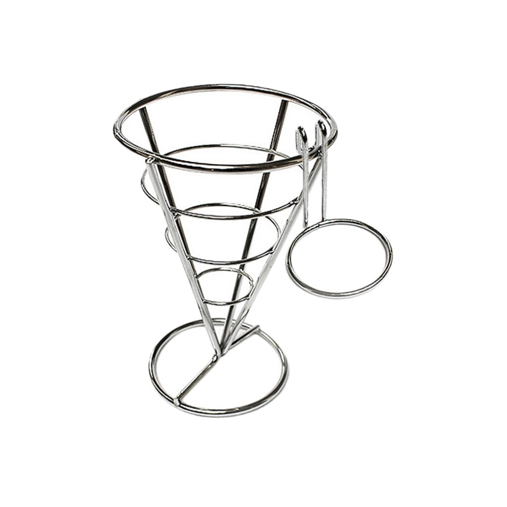 Baoblaze Chip Stand Holder French Fry Fries Bowl Metal Wire Kitchen Bar Appetisers, Perfect for Home Parties, Backyard Picnics, Outdoor Events, Appetizers, Cocktail Service, and Restaurants