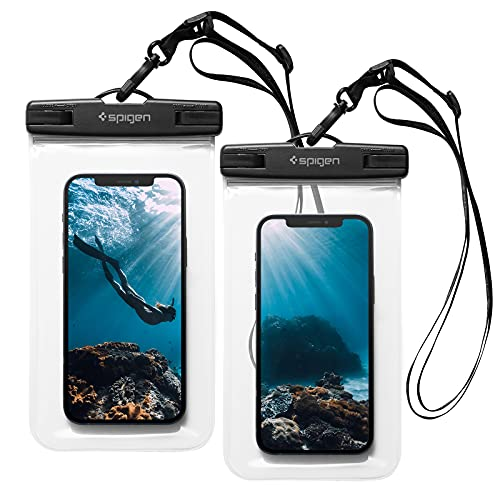 Spigen Aqua Shield Universal Waterproof Phone case [2 Pack] IPX8 Pouch A601 compatible with iPhone, Samsung Galaxy and…