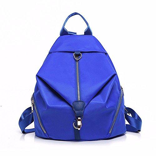 schoolbag Royal backpack bag MSZYZ tide Blue canvas female female Shoulder bag 4FqwxPT