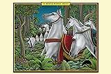 Buyenlarge A Herd of Arabian Horses - 16'' X 24'' Fine Art Giclee Print