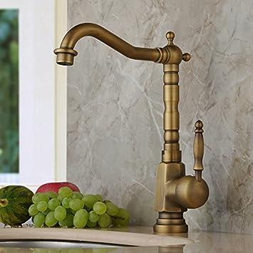 Home Built Antique Brass Finish Widespread Kitchen Sink Faucet Centerset Tap