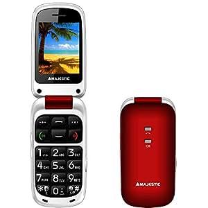 New Majestic TLF-SILENO 41 FLIP DECT Rojo - Teléfono (Teléfono DECT, Rojo)