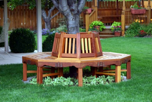 A Woodworking Scroll Saw Patterns and Instructions Plan to Build Your Own Circular Tree Bench