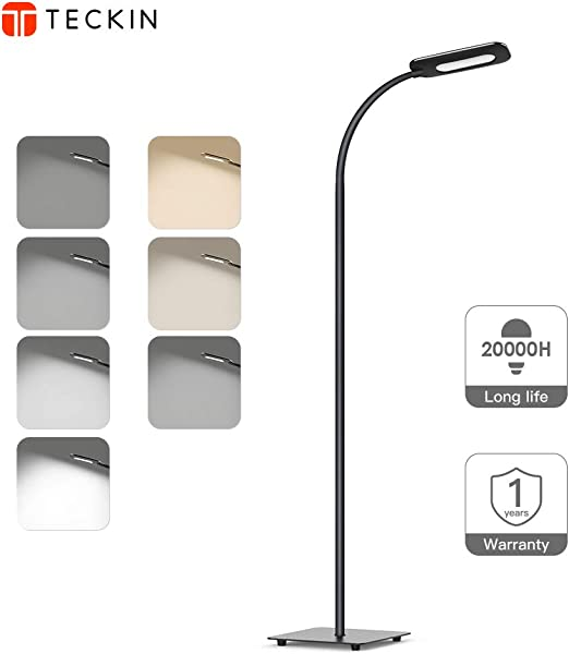 Amazon.com: Lámpara de suelo, luz LED de suelo, regulable en ...