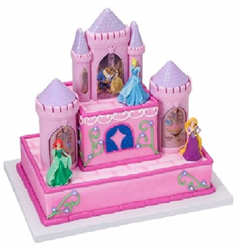 Princess Castle Cinderella Ariel Tangled Belle Birthday Party Cake Decorate Set