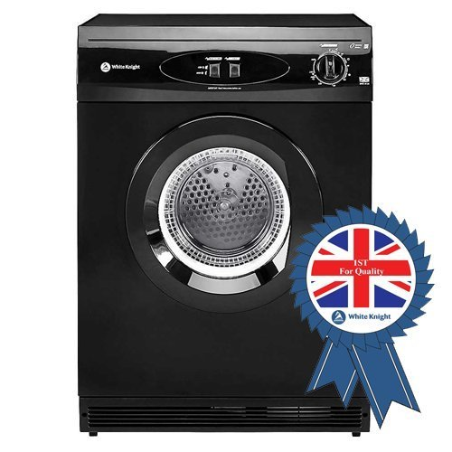 White Knight C44A7B 7kg Freestanding Vented Tumble Dryer - Black