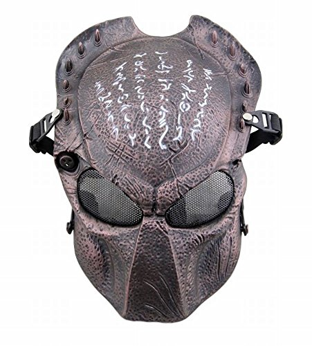 [POJ Japanese Word Design Mask [ BlackRed / BlackYellow / Red bronze / Green bronze ] (Red bronze)] (Green Troll Costumes Contact Lenses)