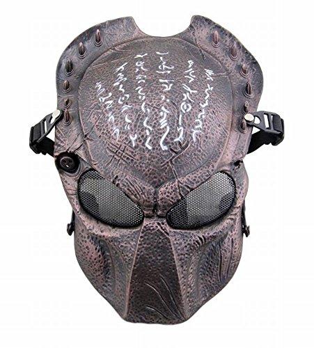 POJ Japanese Word Design Mask [ BlackRed / BlackYellow / Red bronze / Green bronze ] (Red bronze) (Harley Quinn Costume Teen)
